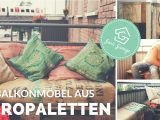 Balkonmbel Aus Paletten Selber Bauen Balkon Diy Upcycling intended for dimensions 1280 X 720