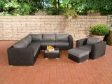 Poly Rattan Gartenmbel Lounge Set Ariano Schwarz Garten Loungembel intended for proportions 1200 X 800